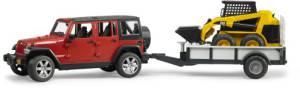 Bruder Jeep Wrangler Unlimited Rubicon m. Cat Kompaktl.