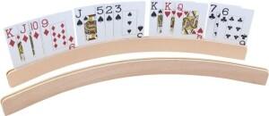 Kartenhalter Holz gebogen, ca. 50 cm