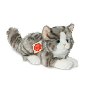 Teddy Collection Katze liegend grau, ca. 20cm
