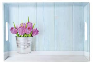 Kesper Serviertablett Tulpen 50 x 35 x 4,5 cm