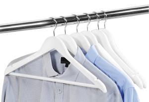 Kesper Kleiderbügel mit Hosensteg 6er Set weiß