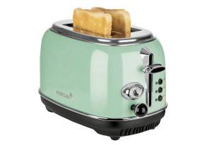 KORONA Toaster Retro 30 x 19 x 18 cm mint, 815 Watt