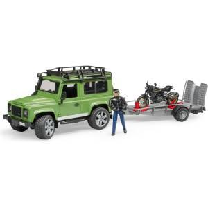 Bruder Land Rover Station Wagon mit Anhänger Duca
