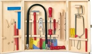 Laubsägeschrank inklusive Werkzeug