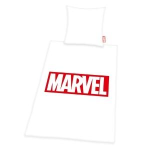 Marvel Comics Bettwäsche 155 x 220 cm weiß, Renforcé