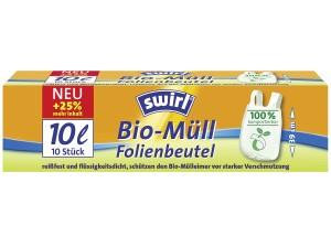 Swirl Mel Bio Folienbeutel 10l mit Griff, 10 Stück