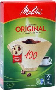 MELITTA Filtertüten 40 Stück natur Packung 100