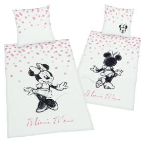 """Minnie Mouse Bettwäsche """"Pünktchen"""" 135x200cm Renforce"""