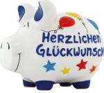 Spardose Schwein Herzlichen Glückwunsch