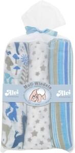 Alvi Mull-Windeln 80 x 80 cm blau 3 Stück
