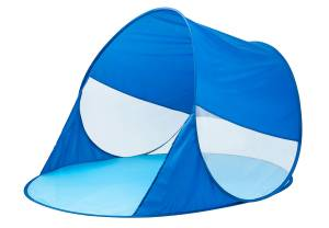 Pop-up Strandmuschel blau