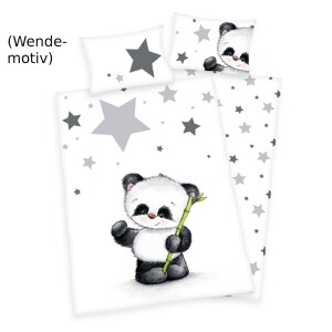 "Baby-Bettwäsche ""Panda"" 100 x 135 cm, Flanell"