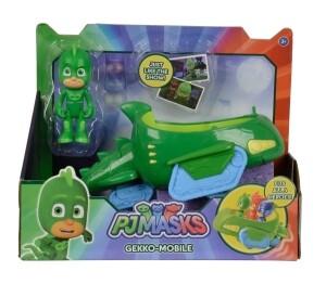 PJ Masks Gecko mit Geckomobil, ca. 17 cm (Fahrzeug) und ca. 8 cm (Figur)
