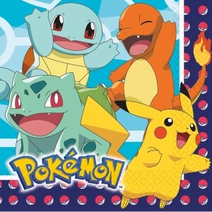 Pokemon Servietten 16 Stück 33 x 33 cm