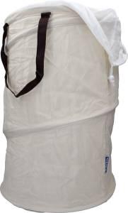 WENKO Wäschesammler in beige für 75 Liter, faltbar