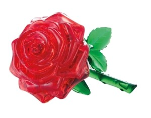 Puzzle 3D Crystal Rose rot 44 Teile