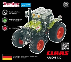 RCEE tronico Metallbaukasten Traktor CLAAS ARION 430