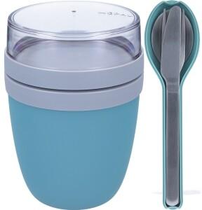 Rosti Mepal Ellipse Set Lunch Pot und Besteckset Nordic Green hellblau