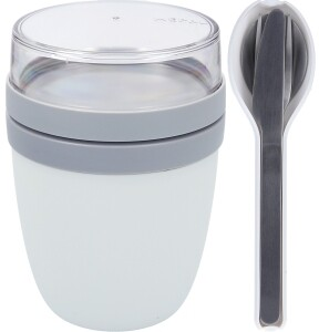 Mepal Ellipse Set Lunch Pot und Besteckset weiß