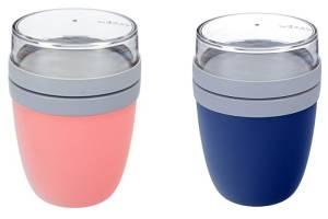Rosti Mepal Lunch Pot Ellipse Nordic Denim und Nordic Pink 2 Stück