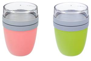 Rosti Mepal Lunch Pot Ellipse Lime und Nordic Pink 2 Stück