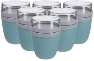 Rosti Mepal Lunch Pot Ellipse Nordic Green in hellblau 6 Stück