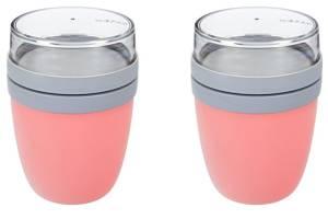 Rosti Mepal Lunch Pot Ellipse in rosa, 2 Stück