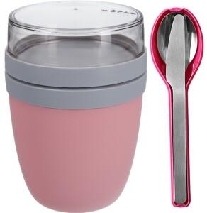 Mepal Ellipse Set Lunch Pot Nordic Pink und Besteckset pink