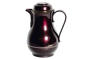 ROTPUNKT Isolierkanne 830 schwarz-kischfarben 1,2 Liter
