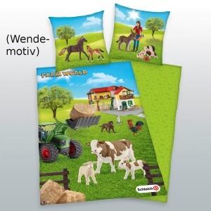 """Schleich Bettwäsche """"Farm Welt"""" 135x200cm, Renforcé"""