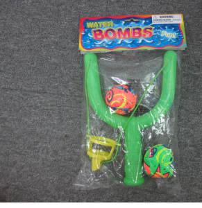Wasserbombenschleuder mit 2 Bällen