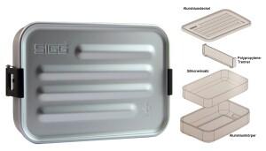 SIGG Brotdose Plus S Aluminium, aluminiumfarben