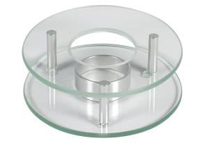Stövchen aus Glas 12 x 4 cm