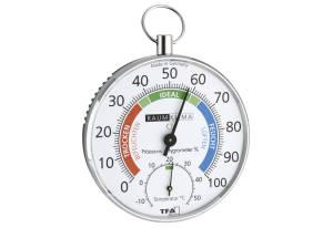 Thermo Hygrometer, silberfarben/weiß
