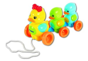 Entenfamilie Nachziehspielzeug