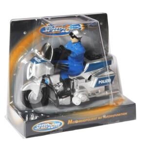 Power World Polizei-Motorrad mit Aufzug