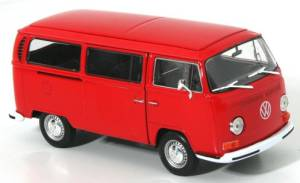 Welly VW Bus T2 1972 rot 1:24