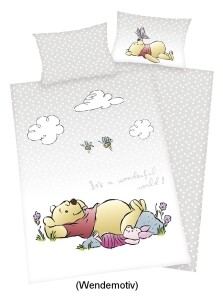 Winnie Puuh Baby-Bettwäsche 100x135cm, Renforce