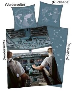Bettwäsche Cockpit 135x200cm Renforce