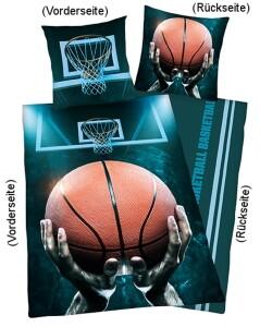 """Bettwäsche """"Basketball"""" 135x200cm, Renforce"""