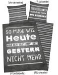 """Bettwäsche """"Sprüche"""" 135x200cm, Renforce"""