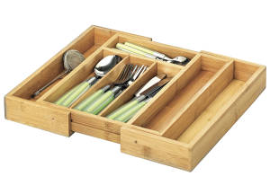 ZELLER-PRESENT Besteckkasten Bamboo ausziehbar