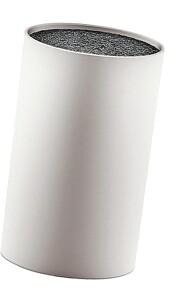 Zeller Present Messerblock mit Borsteneinsatz grau